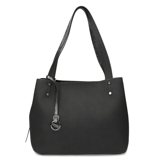 Černá kabelka s metalickými detaily gabor-bags, černá, 961-6069 - 26