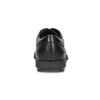 Pánské kožené polobotky černé flexible, černá, 824-6766 - 15