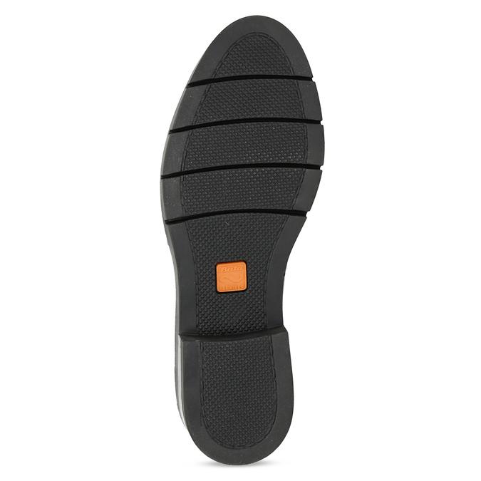 Dámské kožené polobotky černé flexible, černá, 524-6662 - 18