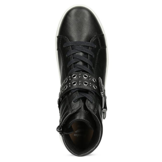 Dámské kotníčkové tenisky černé bata-light, černá, 591-6630 - 17
