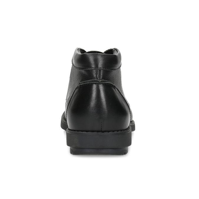 Kotníčková kožená pánská obuv černá flexible, černá, 894-6704 - 15