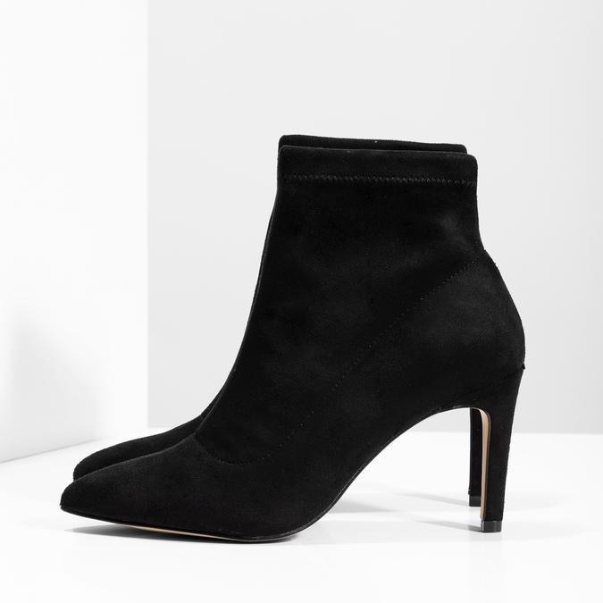 Kotníčkové dámské kozačky na jehlovém podpatku bata, černá, 799-6620 - 16