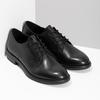 Černé dámské kožené polobotky bata, černá, 524-6666 - 26