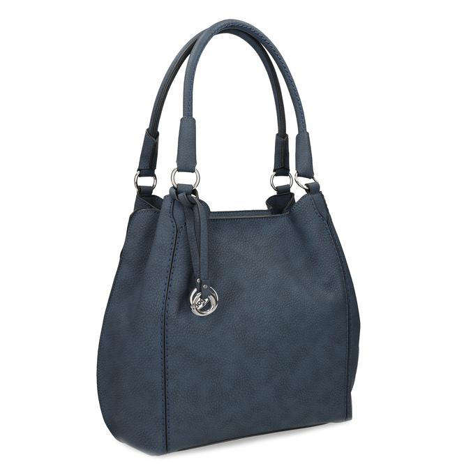 Tmavě modrá dámská kabelka gabor-bags, fialová, 961-9024 - 13