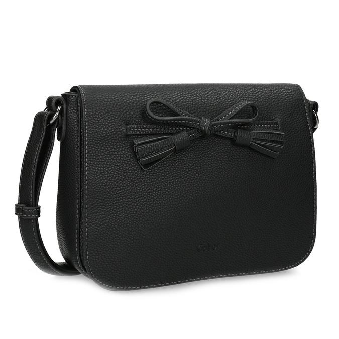 Crossbody kabelka s mašlí gabor-bags, černá, 961-6079 - 13