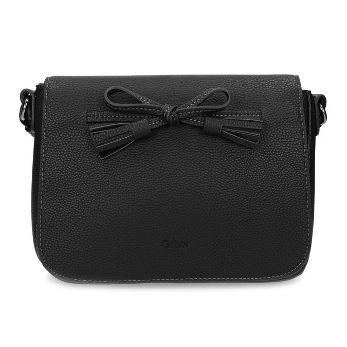 Crossbody kabelka s mašlí gabor-bags, černá, 961-6079 - 26
