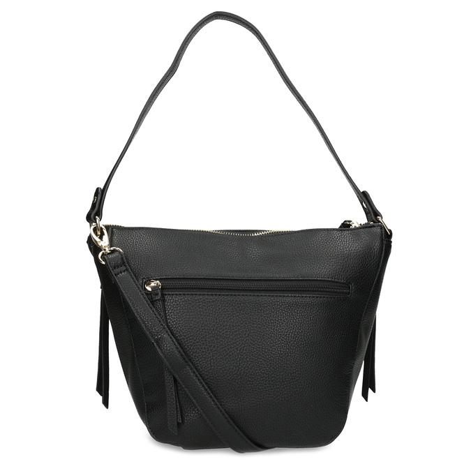 Černá kabelka se zlatými zipy gabor-bags, černá, 961-6086 - 16
