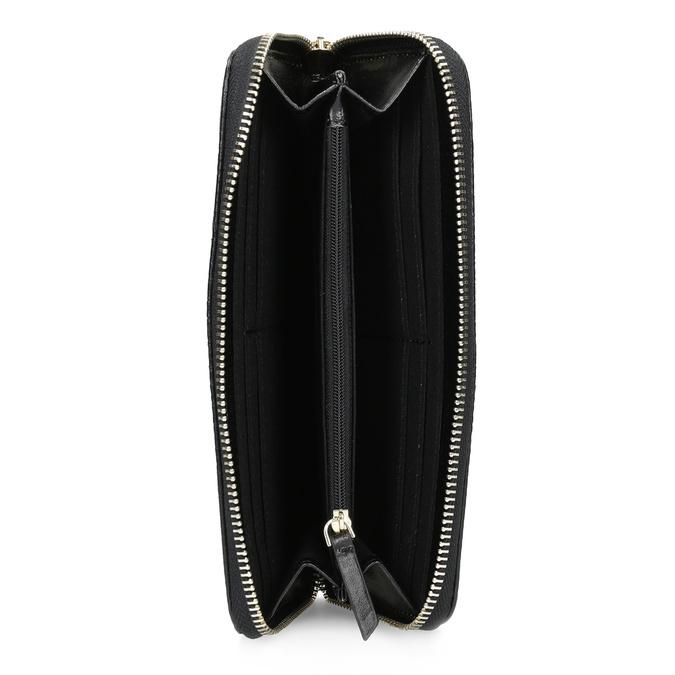 Černá dámská peněženka se strukturou bata, černá, 941-6220 - 15