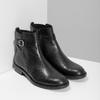 Kožená dámská kotníčková obuv s přezkou vagabond, černá, 514-6140 - 26