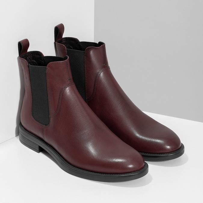 Hnědá kožená dámská Chelsea obuv vagabond, hnědá, 516-4130 - 26