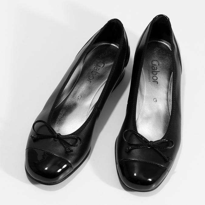 Baleríny s mašličkou gabor, černá, 524-6452 - 16