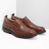 Hnědé kožené pánské mokasíny bata, hnědá, 816-3628 - 26