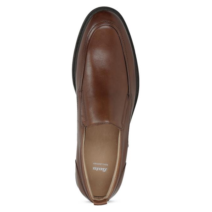Hnědé kožené pánské mokasíny bata, hnědá, 816-3628 - 17