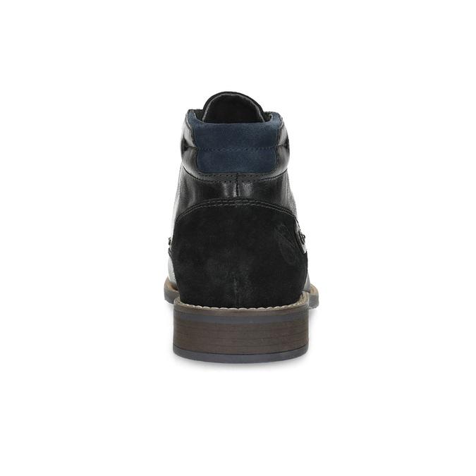 Kotníčková pánská kožená obuv bata, černá, 826-6611 - 15