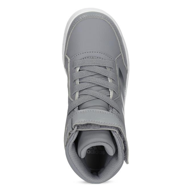 Dětské šedé kotníčkové tenisky adidas, šedá, 301-2220 - 17
