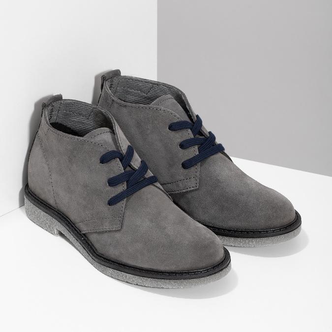 Kožená dětská kotníčková obuv mini-b, šedá, 313-2278 - 26