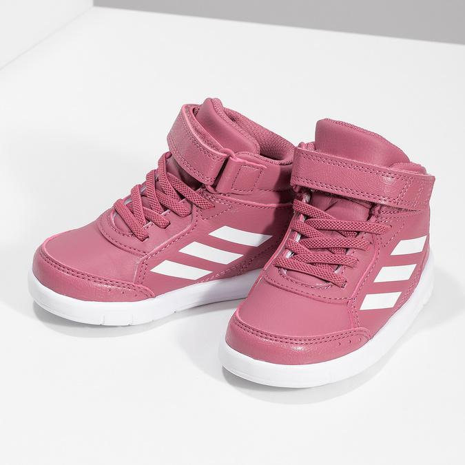 Růžové kotníčkové dětské tenisky adidas, růžová, 101-5220 - 16