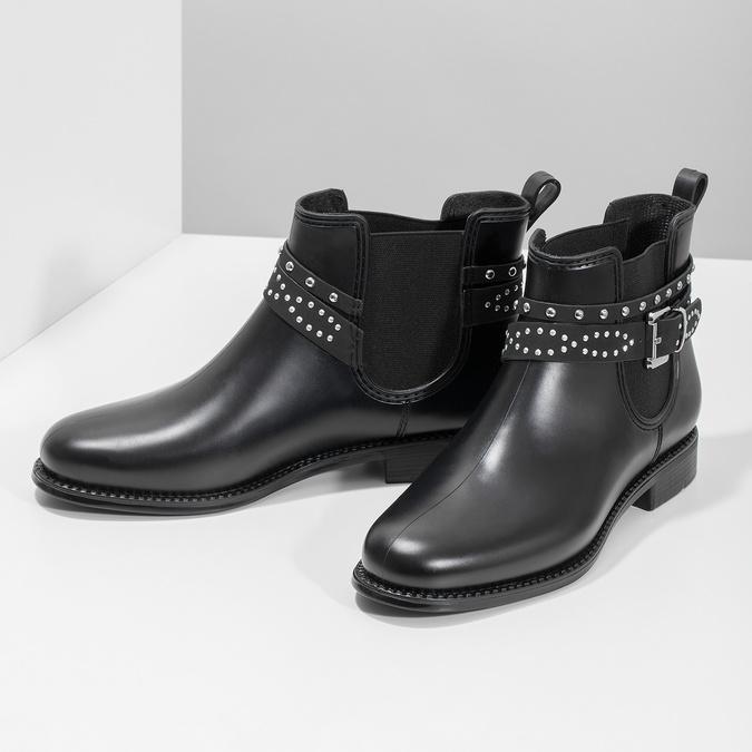 Kotníčkové dámské holínky s přezkou bata, černá, 592-6601 - 16
