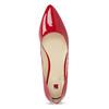 Červené kožené dámské baleríny s lakováním hogl, červená, 528-5066 - 17