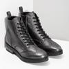 Dámská kotníčková obuv kožená metalická flexible, stříbrná, 596-6695 - 26