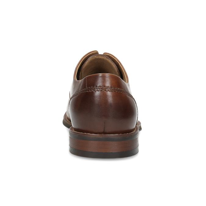 Hnědé kožené polobotky v Derby stylu bata, hnědá, 826-3786 - 15