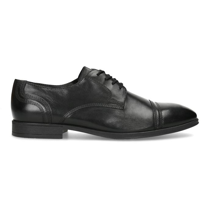 Pánské černé kožené Derby polobotky bata, černá, 824-6891 - 19