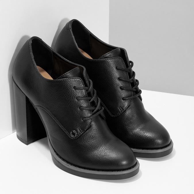 Kotníčková dámská obuv se šněrováním insolia, černá, 711-6600 - 26