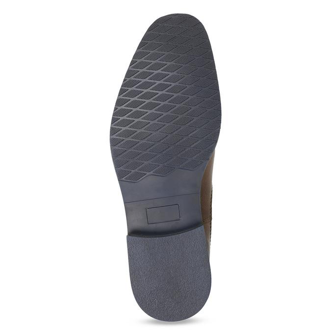Pánská kožená obuv ve stylu Chelsea bata, hnědá, 826-3865 - 18