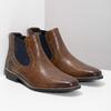 Pánská kožená obuv ve stylu Chelsea bata, hnědá, 826-3865 - 26