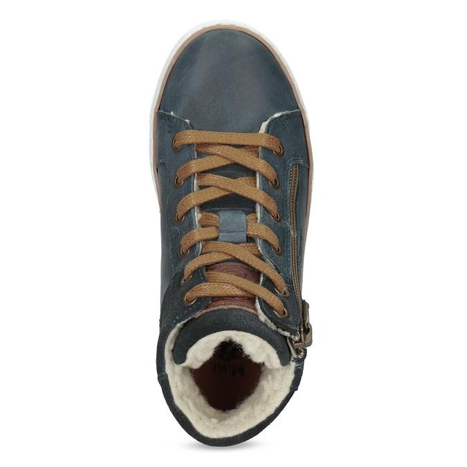 Dětské kožené kotníčkové tenisky mini-b, modrá, 414-9602 - 17