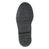 Kotníčková kožená dětská obuv se vzorem mini-b, hnědá, 426-4560 - 18