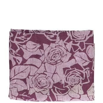 Šátek se vzorem růží vínová bata, růžová, 909-9701 - 13