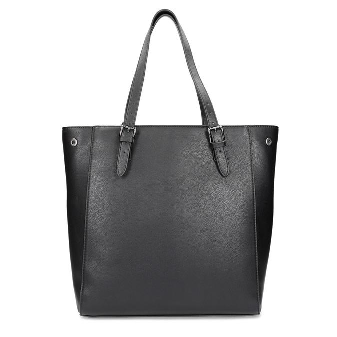 Černá kabelka ve stylu Tote s kamínky bata, černá, 969-6875 - 16