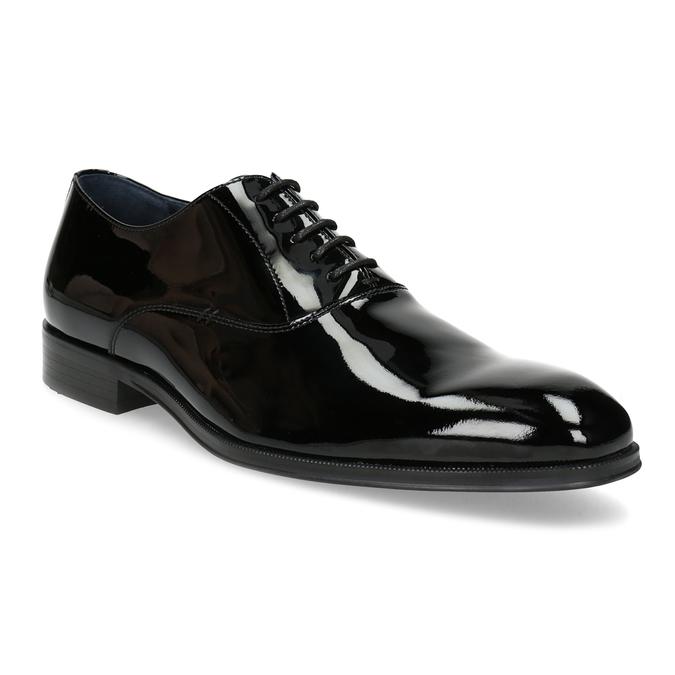 Pánské lakované kožené Oxford polobotky bata, černá, 828-6608 - 13