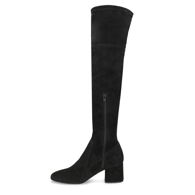 Černé kozačky na stabilním podpatku bata, černá, 793-6614 - 17