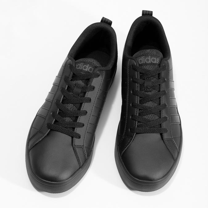 Černé pásnké tenisky s rovnou podešví adidas, černá, 801-6236 - 16