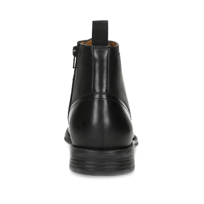 Pánská kožená kotníčková obuv černá vagabond, černá, 824-6238 - 15