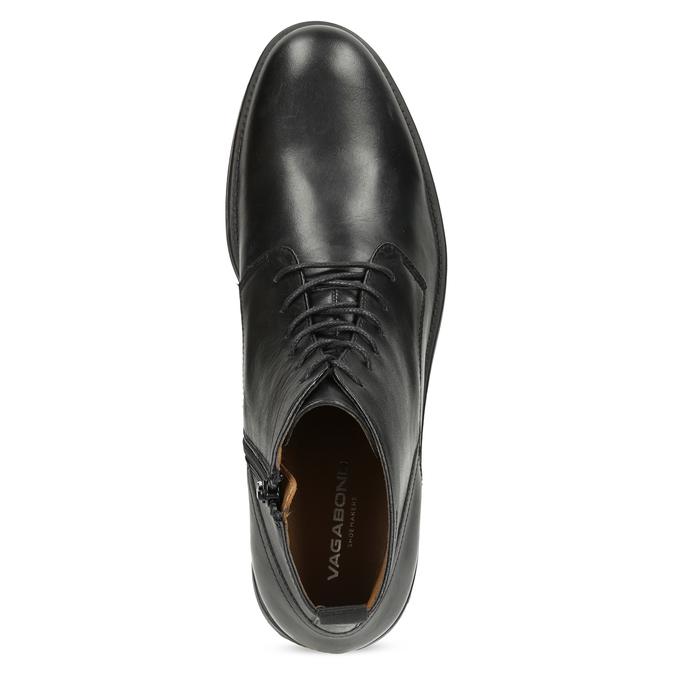 Pánská kožená kotníčková obuv černá vagabond, černá, 824-6238 - 17