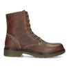 Hnědá kožená dámská kotníčková obuv bata, hnědá, 596-4732 - 19