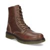 Hnědá kožená dámská kotníčková obuv bata, hnědá, 596-4732 - 13