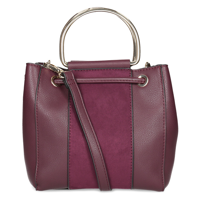 Vínová kabelka s kovovými uchy bata, červená, 961-5891 - 16