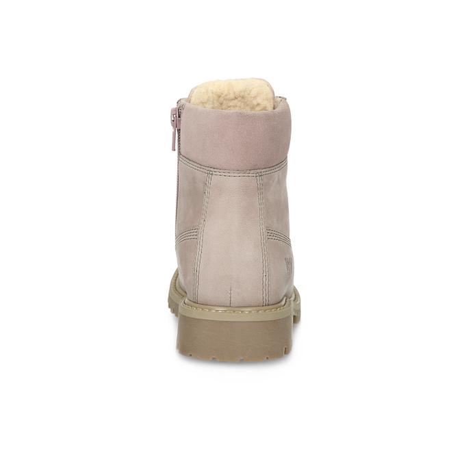 Růžová kožená kotníčková obuv weinbrenner-junior, růžová, 326-5608 - 15