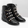 Vysoká kotníčková obuv s perličkami bata, černá, 591-6634 - 26