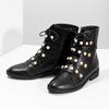 Vysoká kotníčková obuv s perličkami bata, černá, 591-6634 - 16