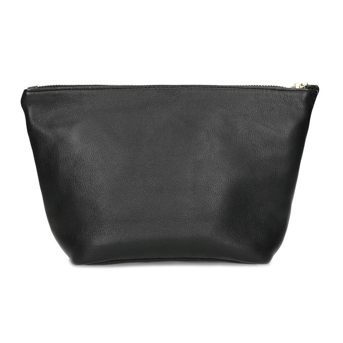 Černá kožená kabelka s páskem na zápěstí vagabond, černá, 964-6012 - 16