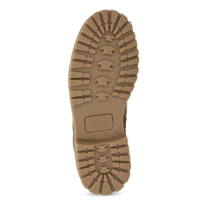 Chlapecká kotníčková obuv s kožíškem mini-b, hnědá, 414-3603 - 18