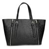 Černá dámská kabelka se stříbrnými zipy bata, černá, 961-6920 - 26