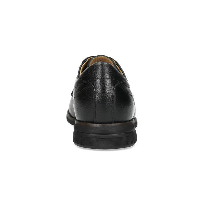 Derby kožené polobotky ležérní comfit, černá, 824-6974 - 15