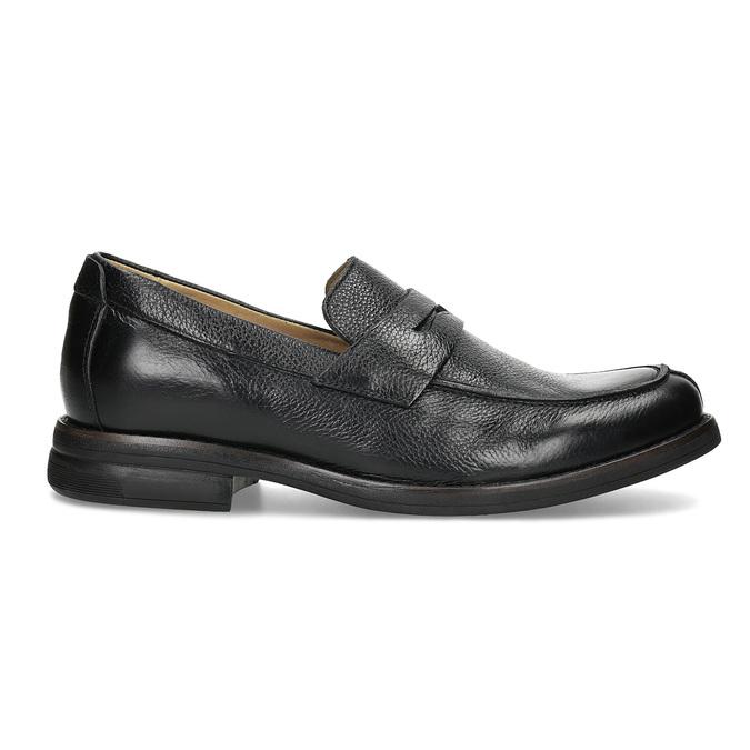 Kožené Penny Loafers mokasíny černé comfit, černá, 814-6627 - 19