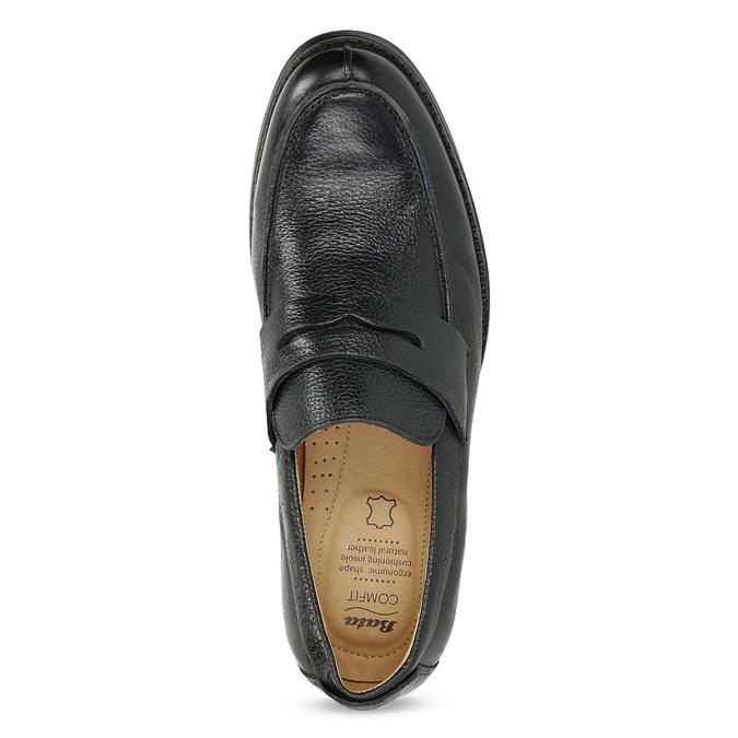 Kožené Penny Loafers mokasíny černé comfit, černá, 814-6627 - 17